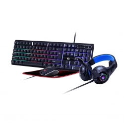 """4-in-1 backlight gaming kit """"Ghost"""", US layout - Gembird - Gaming set"""